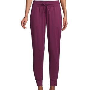 Wine Active Womens Mid Rise Cuffed Track Pant